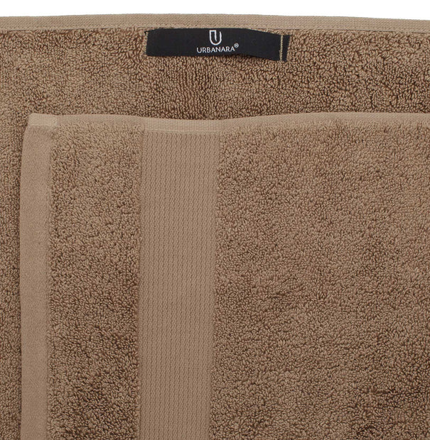 Alvito Towel Collection light brown, 100% zero twist cotton | URBANARA cotton towels
