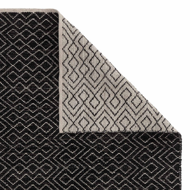 Amini Wool Rug [Black/Off-white]