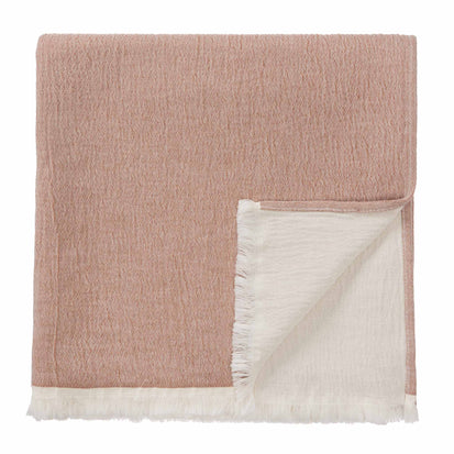 Anaba Blanket terracotta & natural white, 100% cotton