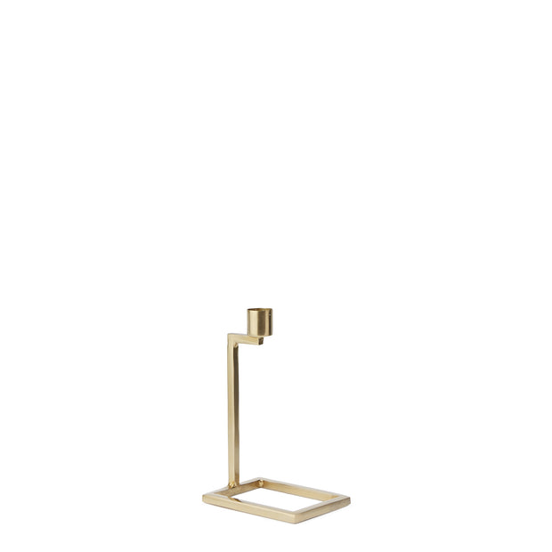 Betwa candle holder, brass, 100% iron | URBANARA candles & scents
