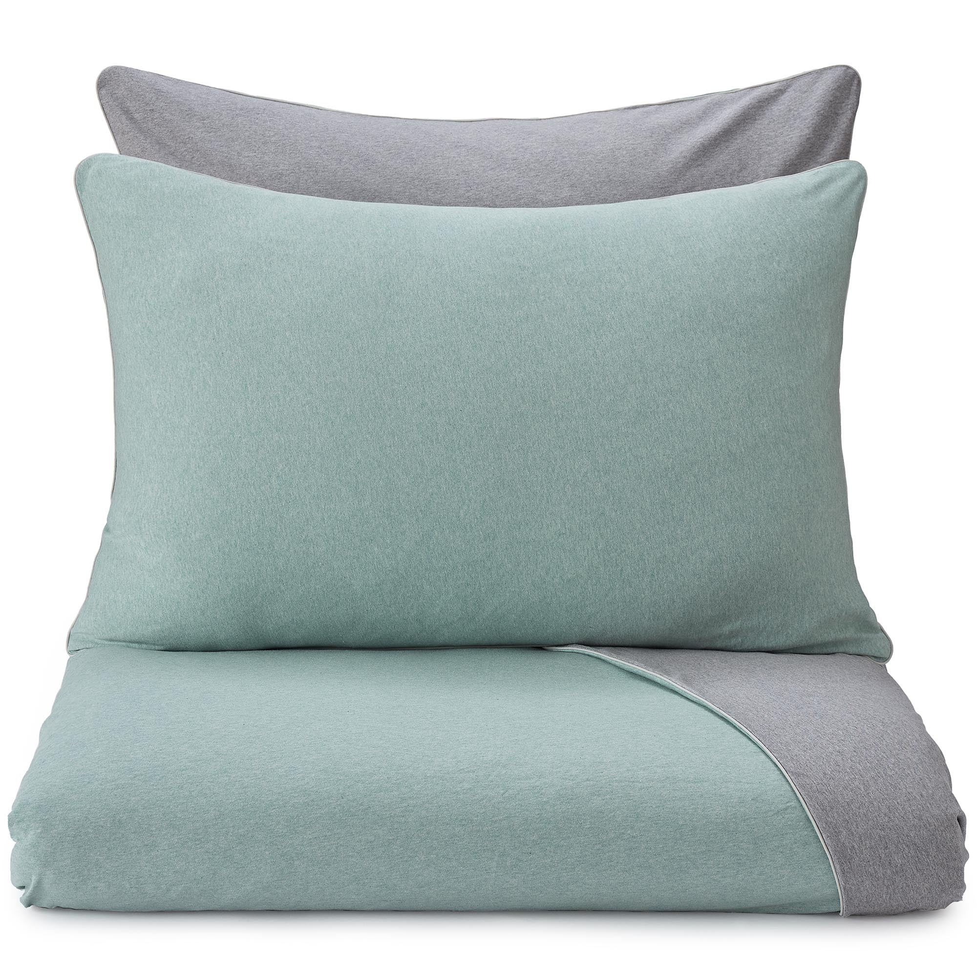 Coria Pillowcase [Light grey green melange/Grey melange/Grey]