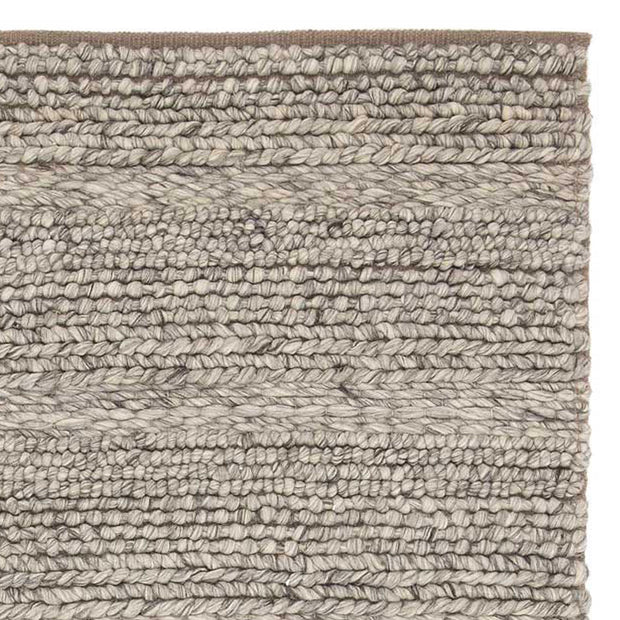 Kalgi Rug off-white & grey & light brown, 100% wool felt