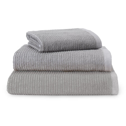 Louzela Towel grey & white, 100% organic cotton