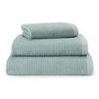 Louzela Towel light grey green & white, 100% organic cotton