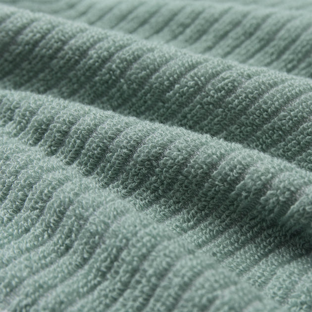 Louzela Towel in light grey green & white | Home & Living inspiration | URBANARA