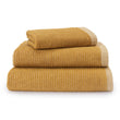 Louzela Towel mustard & white, 100% organic cotton