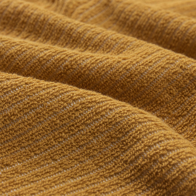 Louzela Towel in mustard & white | Home & Living inspiration | URBANARA