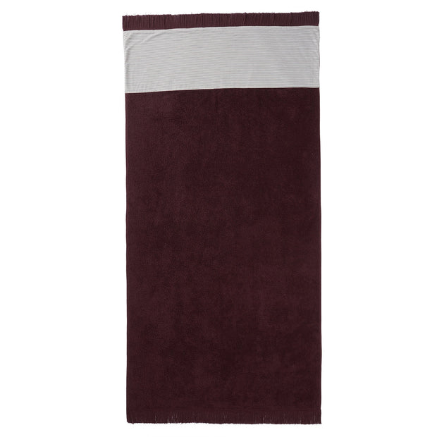 Luni beach towel, aubergine, 100% cotton