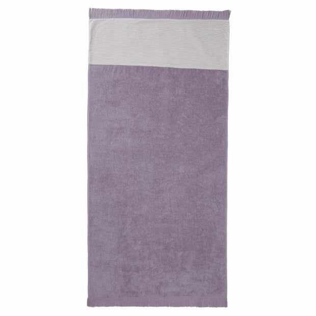 Luni beach towel, light purple grey, 100% cotton
