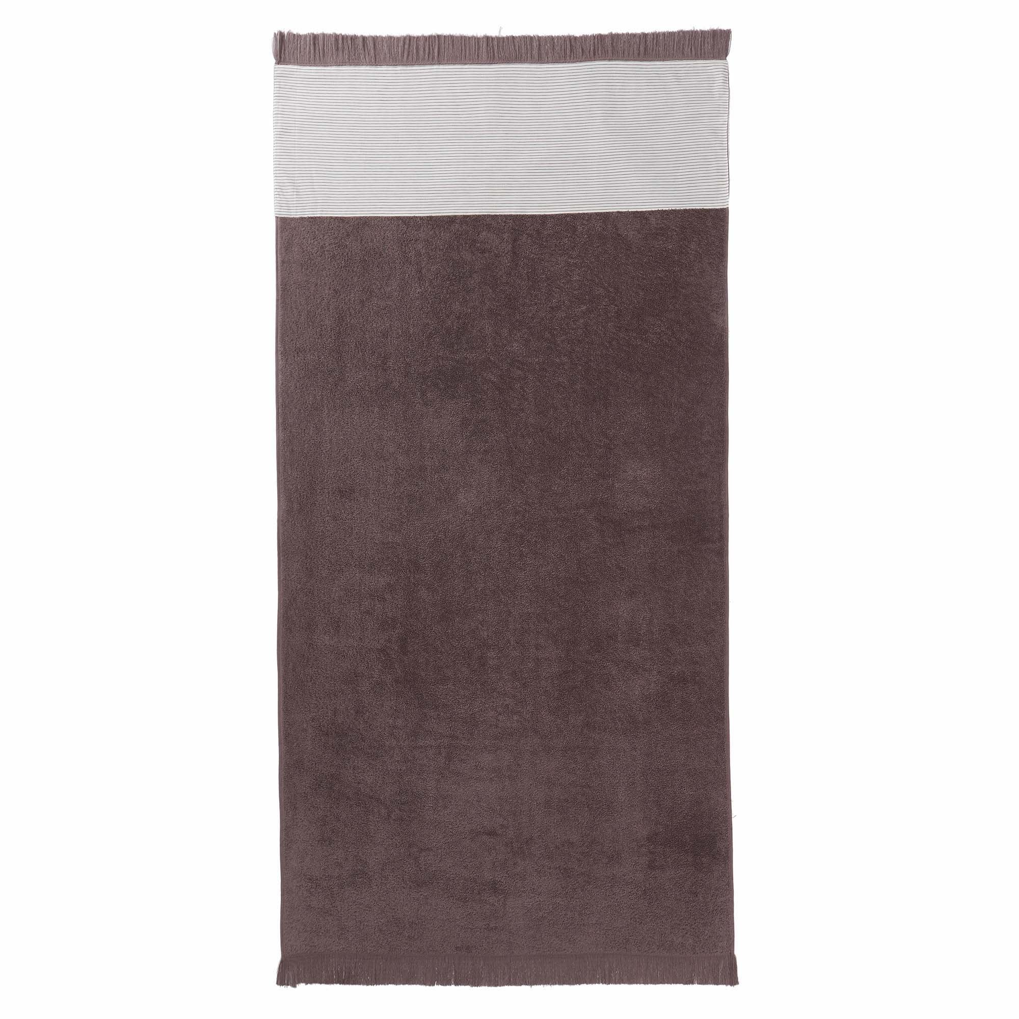 Luni beach towel, grey, 100% cotton