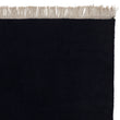 Manu rug, dark blue, 100% wool & 100% cotton