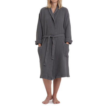 Obidos Bathrobe [Charcoal]
