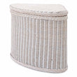 Java laundry basket, chalk white, 100% rattan