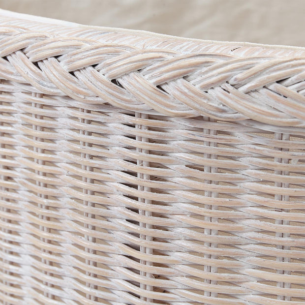 Java laundry basket in chalk white, 100% rattan |Find the perfect laundry baskets