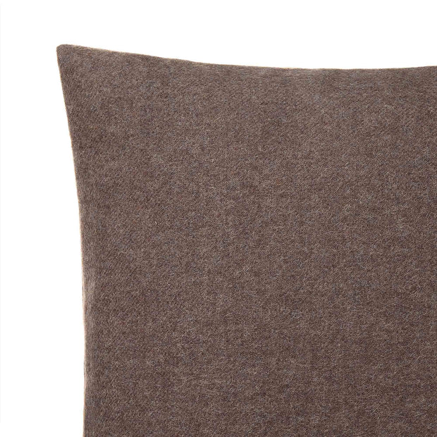Arica cushion cover, brown melange, 100% baby alpaca wool | URBANARA cushion covers