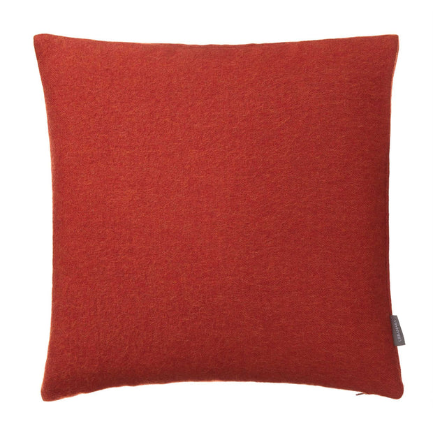 Arica cushion cover, rust orange, 100% baby alpaca wool