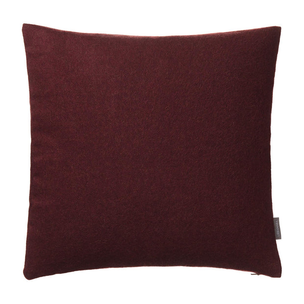 Arica cushion cover, bordeaux red, 100% baby alpaca wool