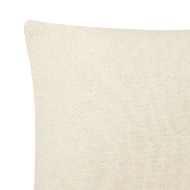 Miramar cushion cover, off-white, 100% lambswool |High quality homewares