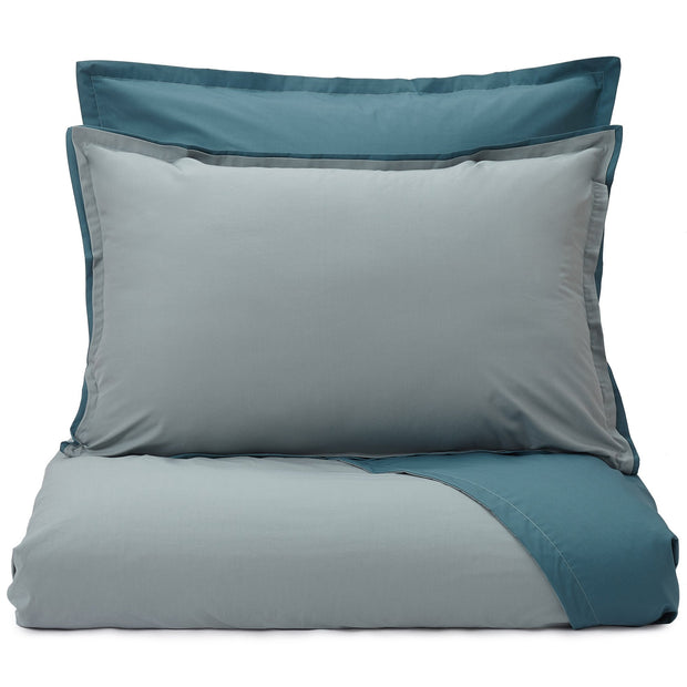 Abiul duvet cover, green grey & teal, 100% combed cotton