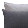 Agrela Flannel Pillowcase charcoal & light grey, 100% cotton | URBANARA flannel bedding
