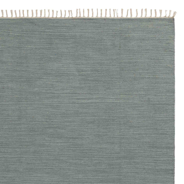 Akora rug, green grey melange, 100% cotton
