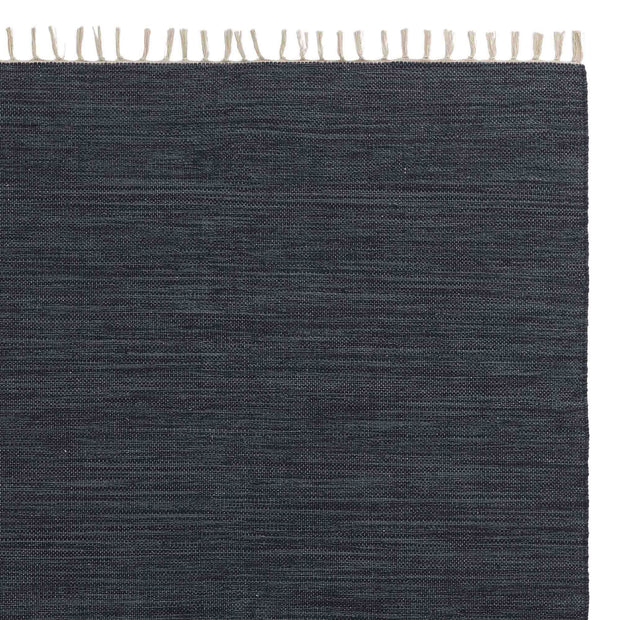 Akora rug, denim blue melange, 100% cotton
