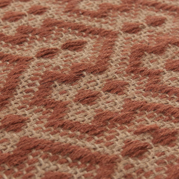 Alampar Rug natural & terracotta, 100% jute | High quality homewares