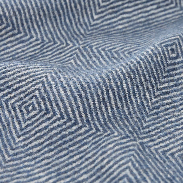 Alanga Alpaca Blanket denim blue & off-white, 100% baby alpaca wool | High quality homewares