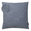 Alanga cushion cover, denim blue & off-white, 100% baby alpaca wool