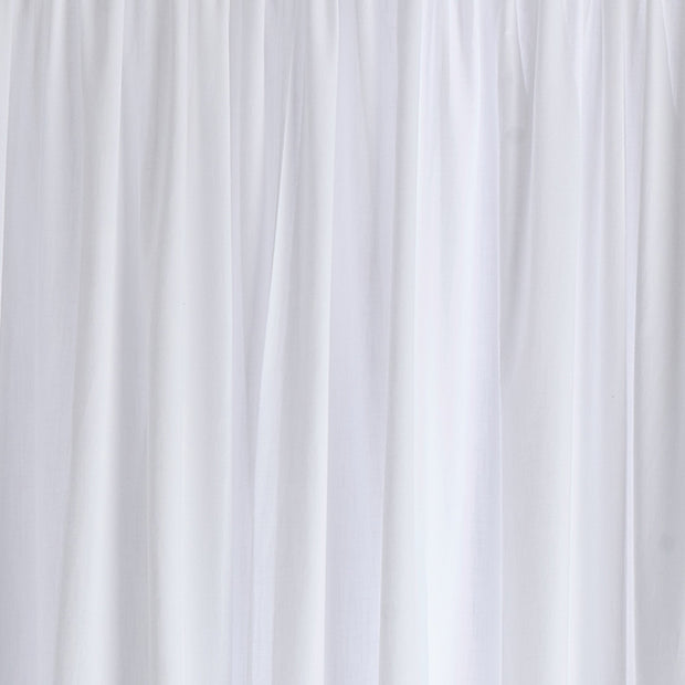 Alegre curtain, white, 100% cotton | URBANARA curtains