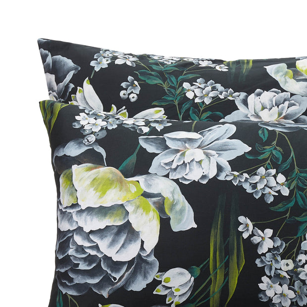 Almadena pillowcase, forest green & multicolour, 100% cotton |High quality homewares
