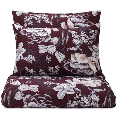 Almadena duvet cover, bordeaux red & multicolour, 100% cotton