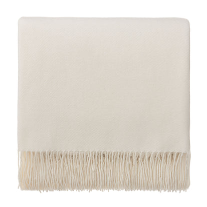 Almora Blanket off-white, 50% cashmere wool & 50% wool