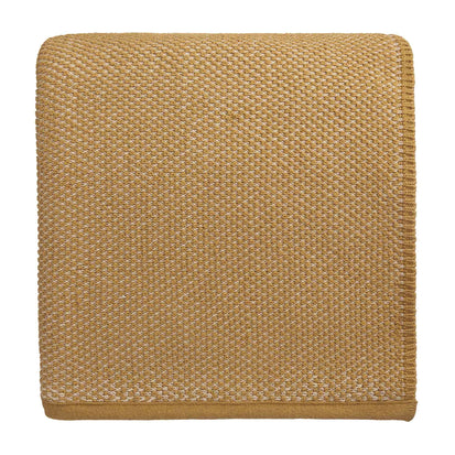 Alvor Blanket mustard & off-white, 100% cotton