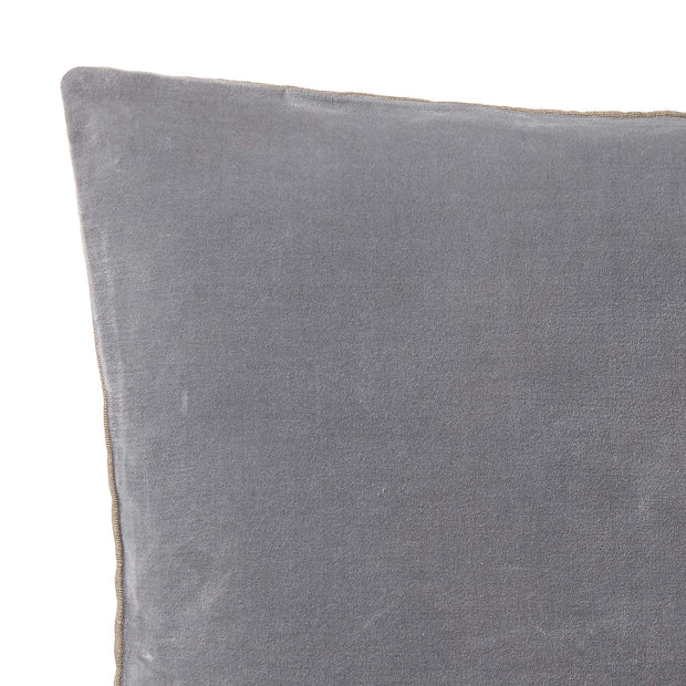 Amreli cushion, grey & natural, 100% cotton & 100% linen | URBANARA cushion covers