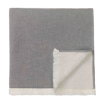 Anaba Blanket grey & natural white, 100% cotton