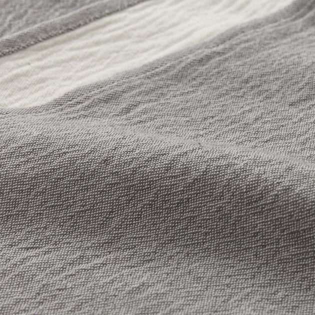 Anaba Blanket in grey & natural white | Home & Living inspiration | URBANARA