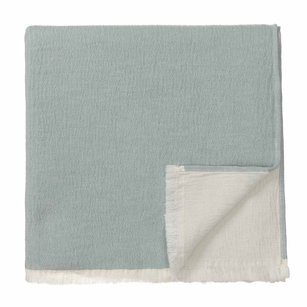 Anaba Blanket green grey & natural white, 100% cotton
