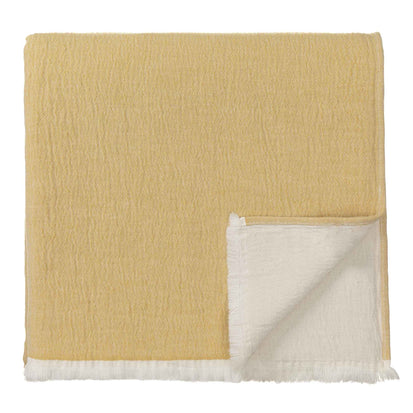Anaba Blanket mustard & natural white, 100% cotton