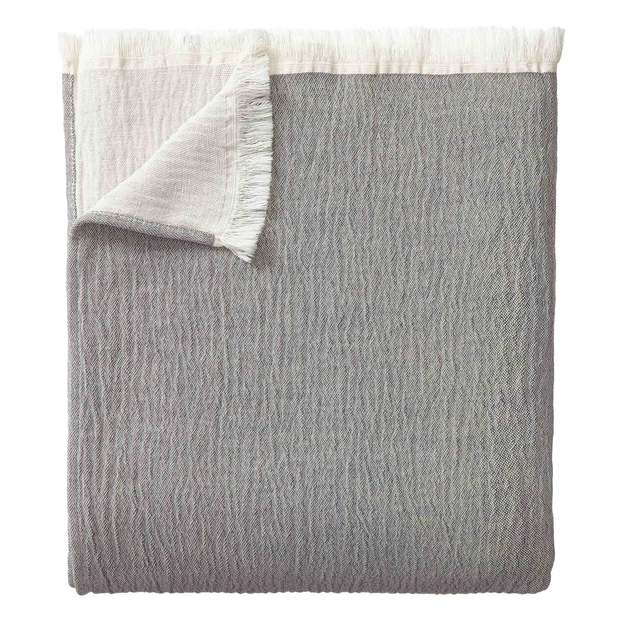 Anaba Bedspread [Grey/Natural white]