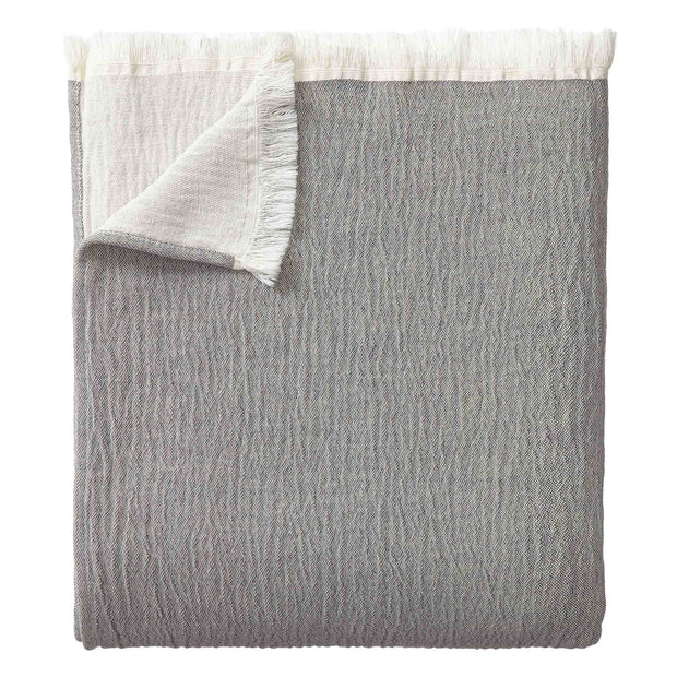 Anaba Bedspread grey & natural white, 100% cotton