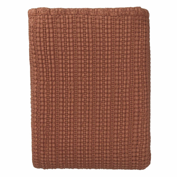 Anadia Bedspread terracotta, 100% cotton