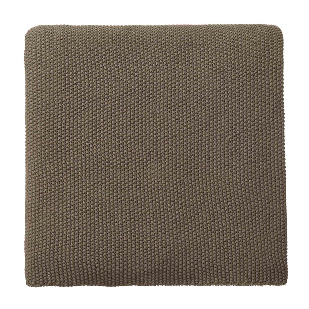 Antua blanket, olive green, 100% cotton