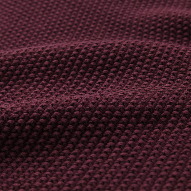 Antua Cotton Blanket bordeaux red, 100% cotton | URBANARA cotton blankets