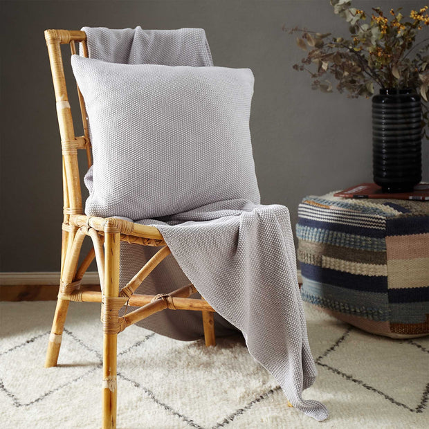 Antua Cotton Blanket in silver grey | Home & Living inspiration | URBANARA
