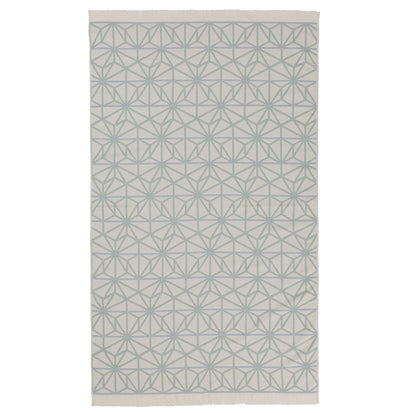 Arade Beach Towel natural white & light grey green & light grey blue, 100% cotton