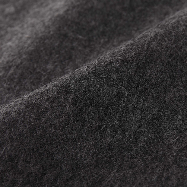Arica blanket, charcoal melange, 100% baby alpaca wool |High quality homewares