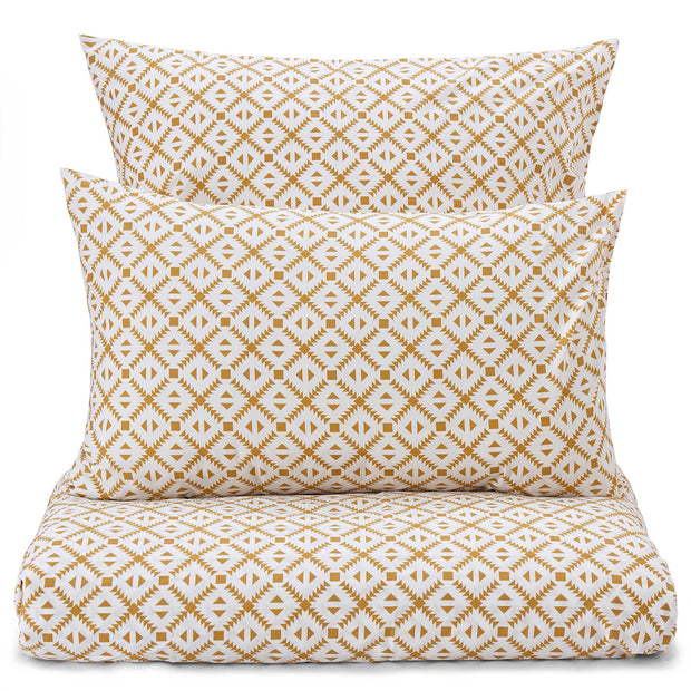 Arouca Bed Linen white & mustard, 100% cotton