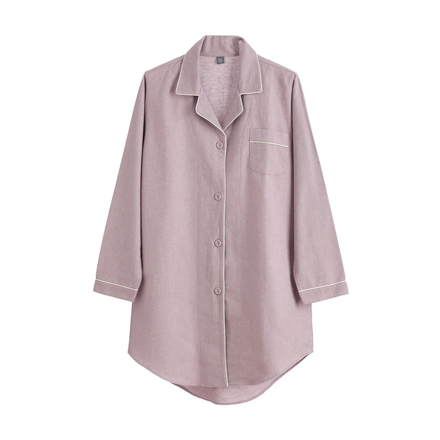 Arove Nightshirt light mauve & natural white, 100% organic cotton | High quality homewares