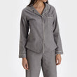 Arove pyjama, stone grey & natural white, 100% organic cotton